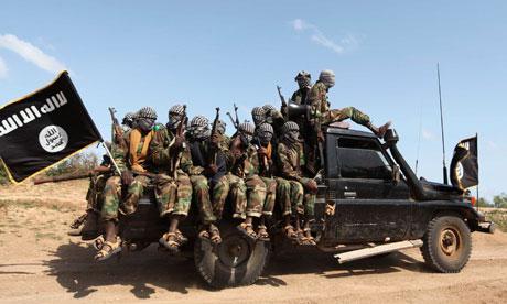 Al-Shabaab members in Somalia