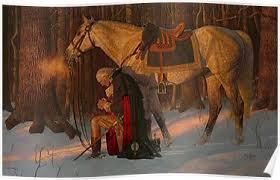 Image result for washington praying painting