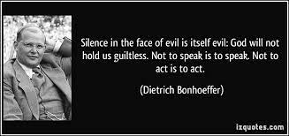 Bonhoeffer Quotes Evil. QuotesGram