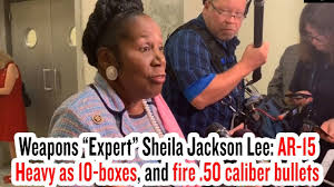 Sheila Jackson Lee: AR-15 Heavy as 10-boxes, and fire .50 caliber bullets -  YouTube