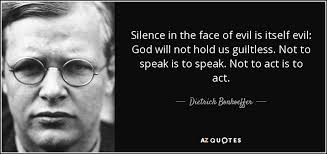 Silence in the face of evil | Sara Krengel | The Blogs