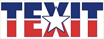 Amazon.com: American Vinyl TEXIT Bumper Sticker (Texas Secede Flag Texan tx  exit): Automotive